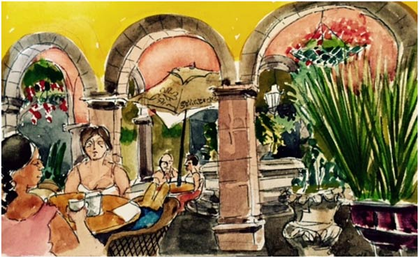 Fred Appell's watercolor