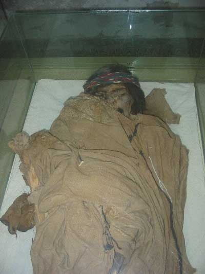 mummy uncovered during plowing can now be seen at Museo del Hombre in Fiambalá