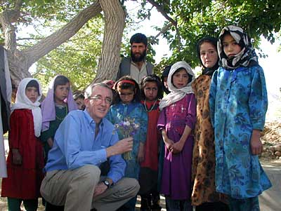 Peter with project participants in Afghanistan