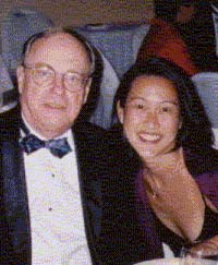 Bill Stork, Hong Kong (with friend Jennifer Li at Yale 300th Anniversary celebration)